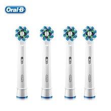 Oral B EB50 Креста Действий Насадки для Типа Вращения Электрического Зубной Щетки Сменные Головки Deep Clean 4 головки/пакет ГОРЯЧАЯ(China (Mainland))