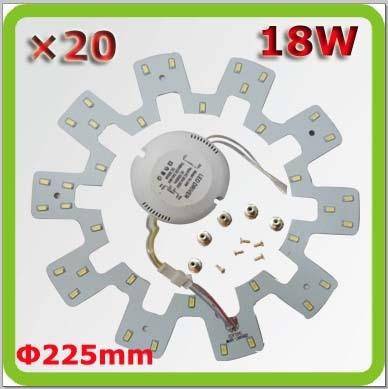 Velkoobchod DHL vak na poštu 120V 220V 230V 240V Dia225mm 18W led stropní světlo dolů světlo PCB 1800lm