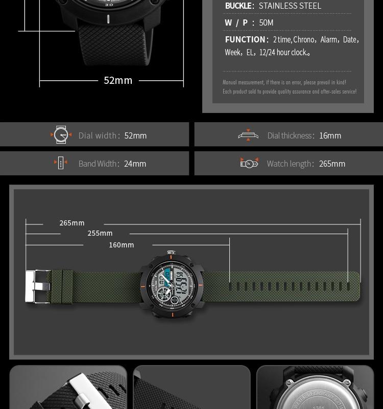 de luxo marca digital relógio quartzo dos