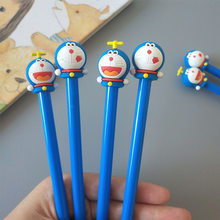 1 pcs creative leuke cartoon tinker kat neutrale pen Doraemon leerlingen zwarte pennen(China)