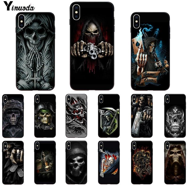 Yinuoda Grim reaper skull skeleton  Customer High Quality Phone Case for Apple iPhone 8 7 6 6S Plus X XS MAX 5 5S SE XR Cover