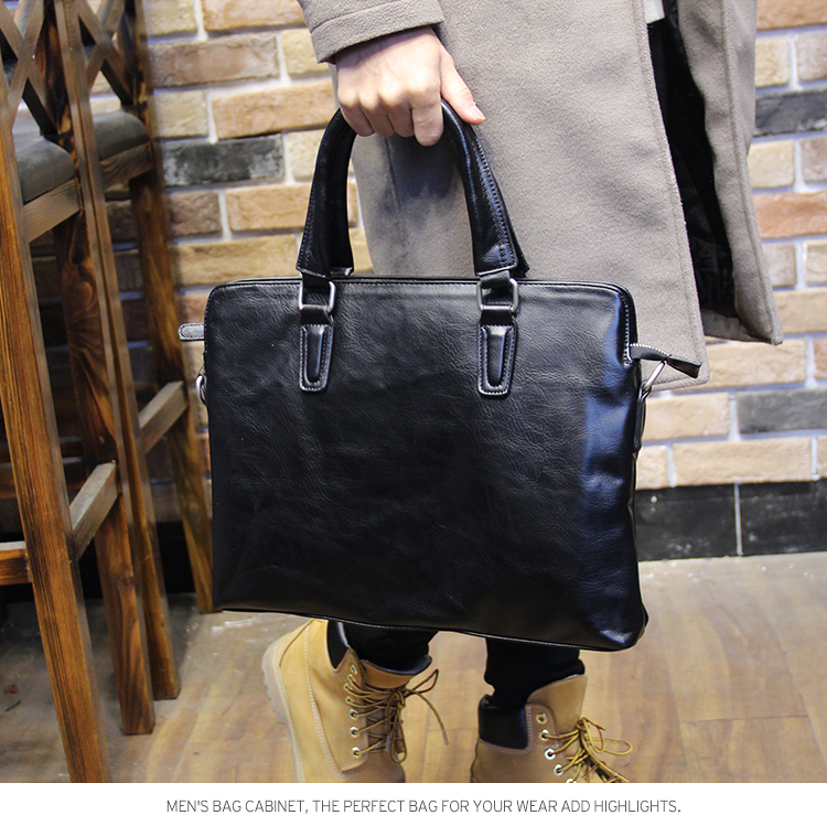 Brand Men Leather Briefcase High Quality Business Man Handbag Black Men Messenger Laptop Bag Casual Men Shoulder Bag