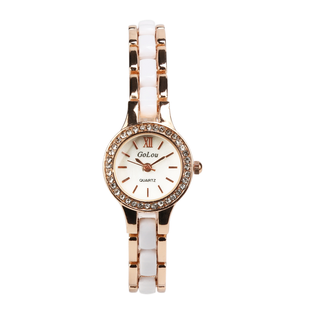 Luxury Rose Gold Bracelet Watch Women Ladies Crystal Fashion Dress Quartz Wrist Watches Relogio Feminino G-8068 luxury brand gold bracelet womens watches fashion casual quartz ladies wrist watch relogio feminino