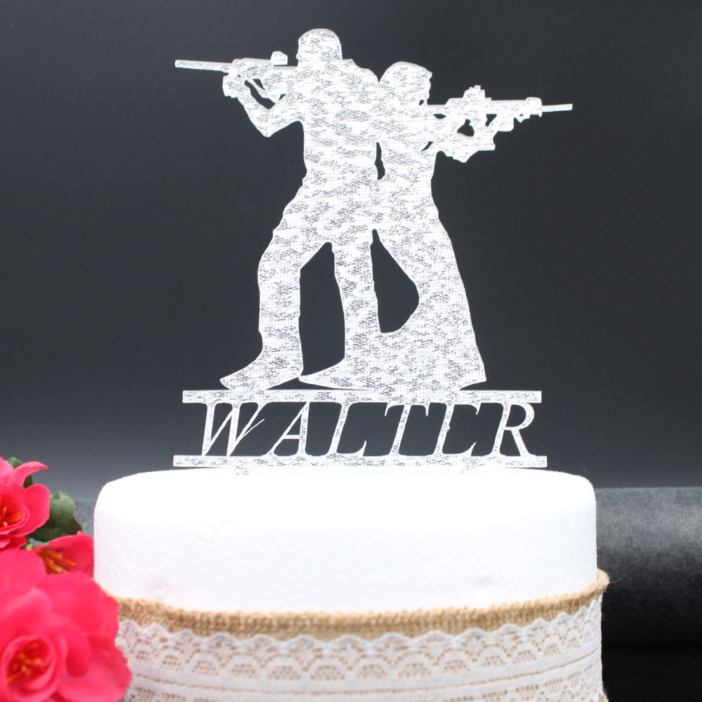 Personalized wedding cake topper Acrylic Custom name cake topper