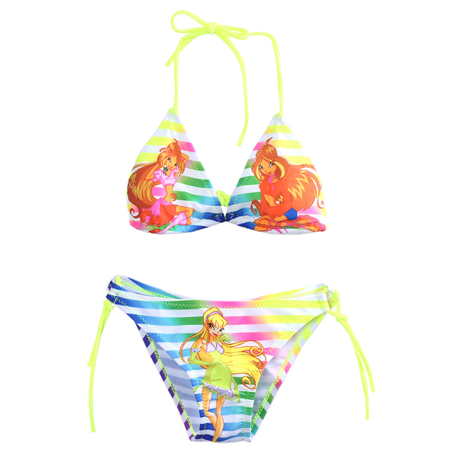 2pcs Newest Kids Baby Girls Bikin Set Fancy Swimwear Swimsuit Bikini