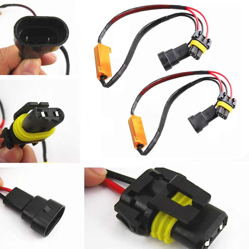 Новый HB3 HB4 Автомобильный светодиодный для легких нагрузок резистор мерцания декодеры Предупреждение компенсатор жгут Автомобильная электроника высокого качества