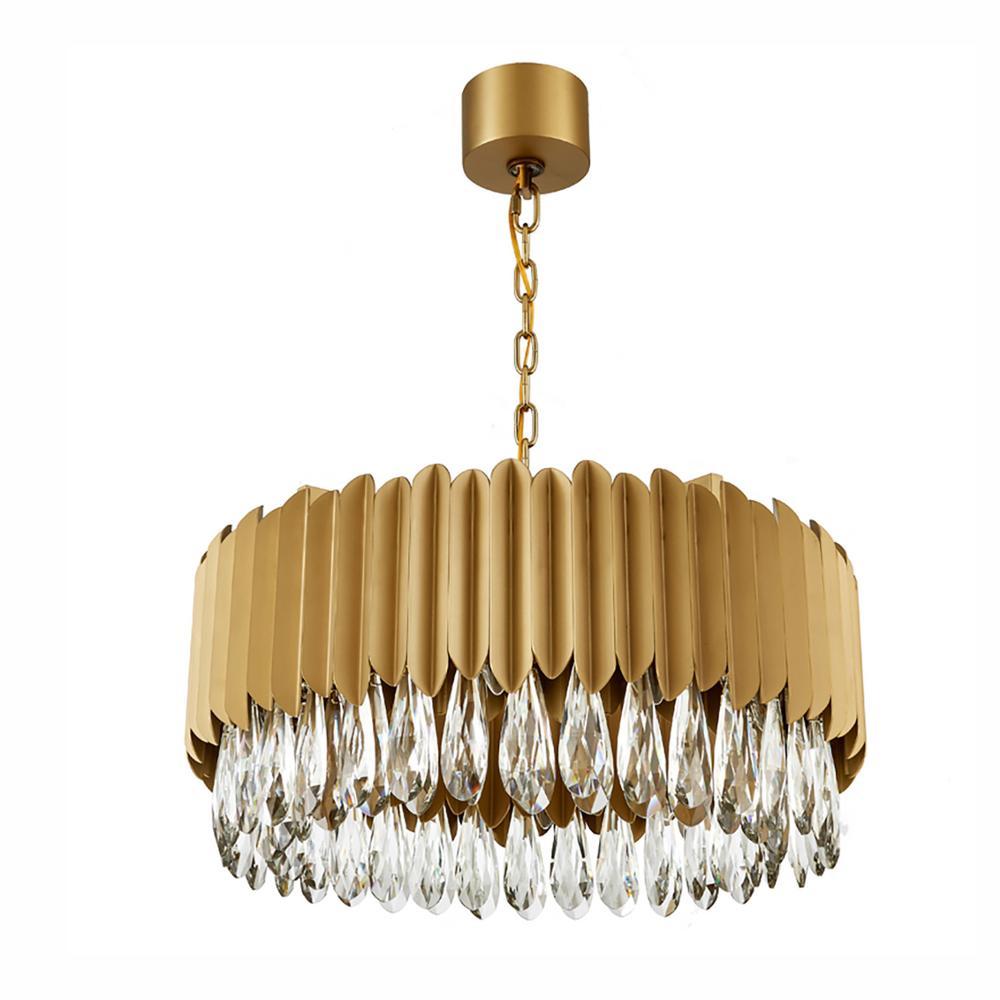 Современный хрустальный светодиодный подвесной светильник для фойе из нержавеющей стали, круглый подвесной светильник для спальни