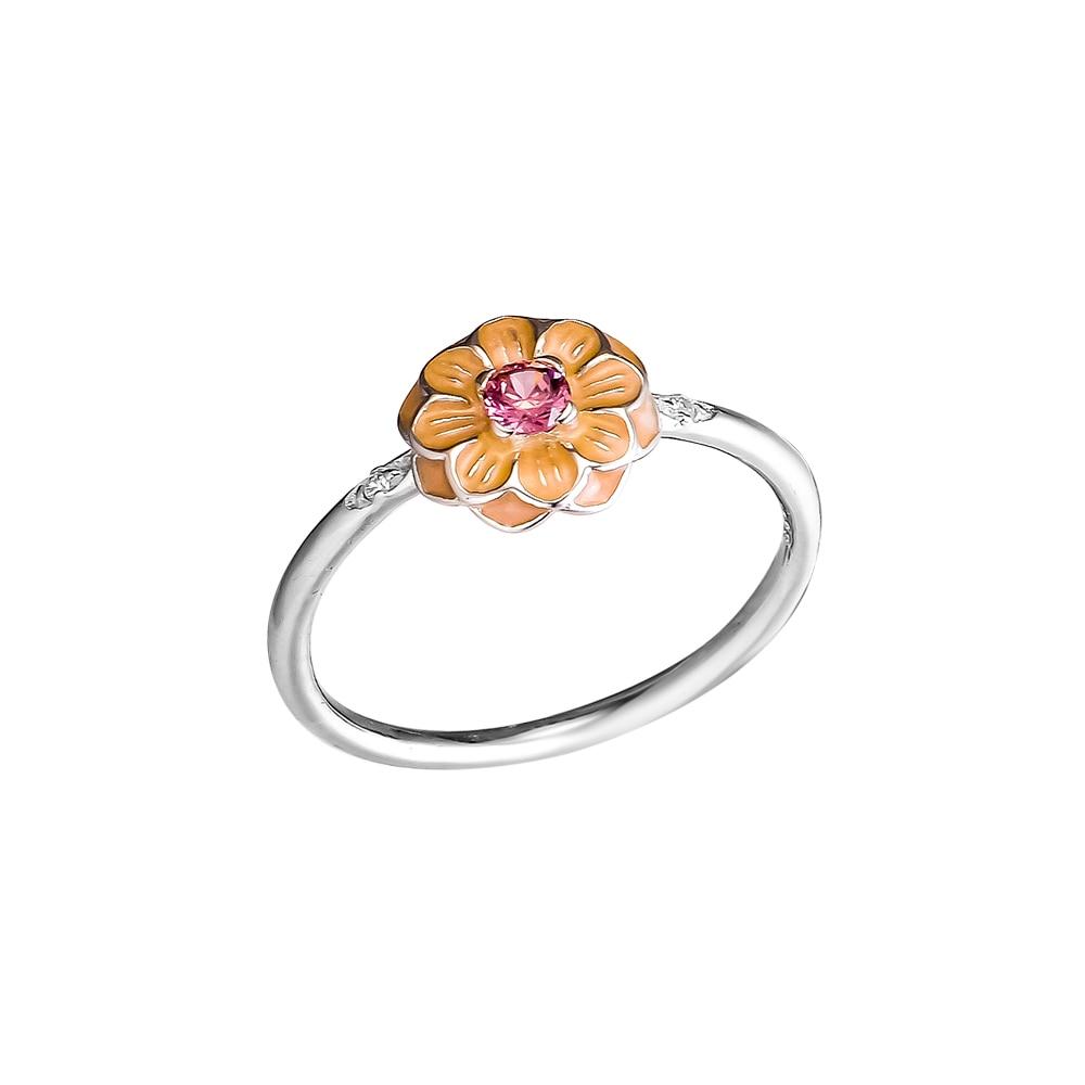 Kvetoucí prsteny Dahlia s krémovým smaltem 100% 925 mincovních - Šperky - Fotografie 5