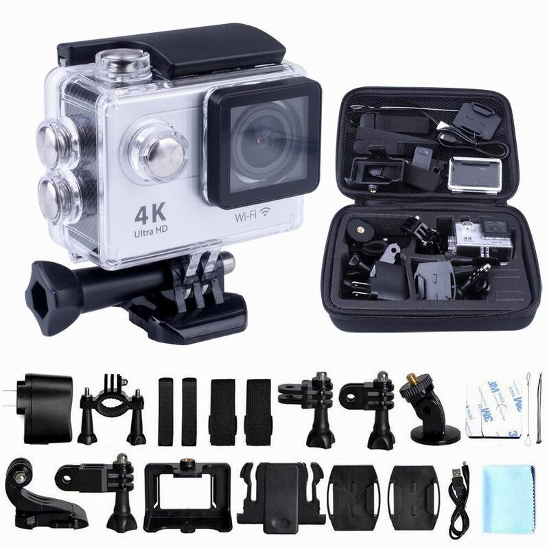 4K 1080P Sport Action Video Camera Mini Camcorder Wifi Cam Waterproof Full HD Remote Control CamGopro go pro Xiao Mi Yi style wimius 20m wifi action camera 4k sport helmet cam full hd 1080p 60fps go waterproof 30m pro gyro stabilization av out fpv camera