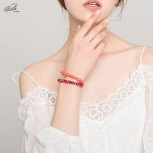 Badu Women Bracelet Crystal Beads 19 Colors Faceted Crystals Boho Fashion Bracelets 6 cm Beaded Jewelry Gift Wholesale Cheap