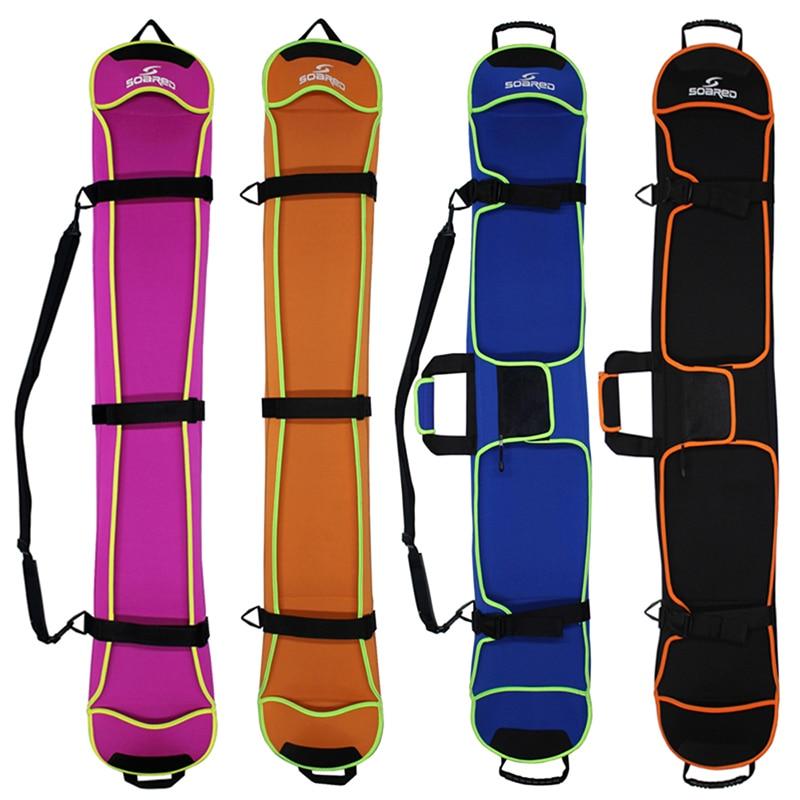 Skiing Snowboard Bag 135-155cm Scratch-Resistant Monoboard Plate Half Cover Protective Case Dumpling Skin Ski Board Bag 4 Colors