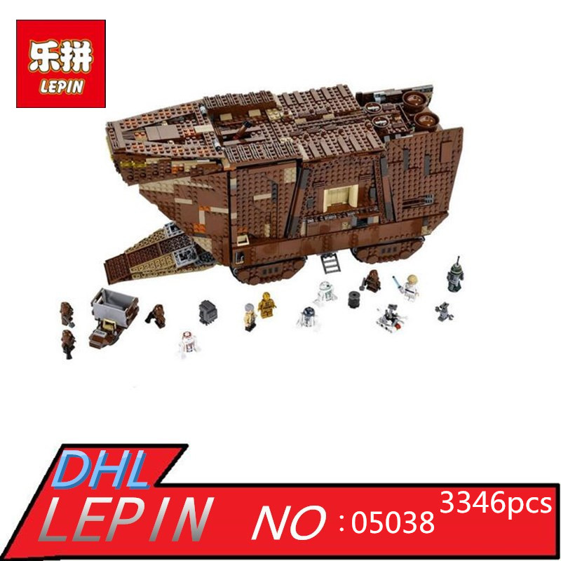 LEPIN 05038 3346pcs Star Juguete Para Construir Bricks Wars Sandcrawler Building Blocks Sets Children Toys Compatible with 75059