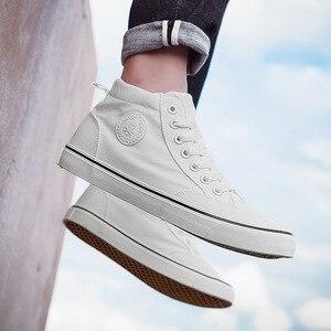 Image 3 - Chaussures classiques en toile pour homme, chaussures de sport à lacets, nouvelle tendance printemps automne solides et plates vulcanisées avec chaussures décontractées