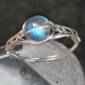 "925 silver natural gemstones moonstone rings with stones for women Original Handmade ""GRB Ring"""