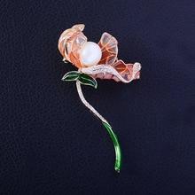 LISM Wholesale Fashion Creative Flower Corasage Brooch Pin Mirco Cubic Zircon Coat Hat Accessories Jewelry For Women Men