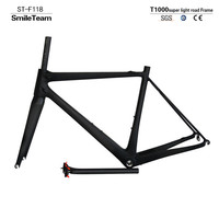 SmileTeam 2017 New Super Light T1000 Full Carbon Road Bike Frame UD Matte Carbon Road Bicycle
