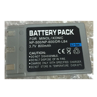 NP-600 NP500 lithium battery NP600 DR-LB4 Digital camera battery For Konica Minolta DIMAGE G400 G530 KONICA KD-310Z KD-500Z