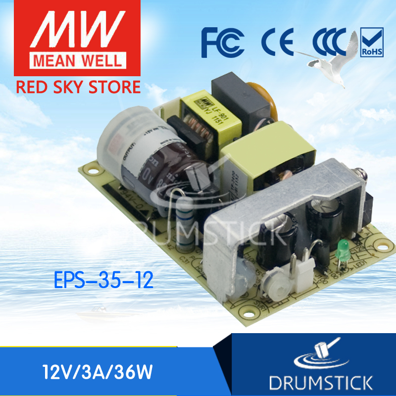 Redsky free-delivery 10Pcs MEAN WELL original EPS-35-12 12V 3A meanwell EPS-35 12V 36W Single Output Switching Power Supply free hk post eps original ink cartridge 2pces 1set t1421 black eps me 560w 620f 570w economical practical