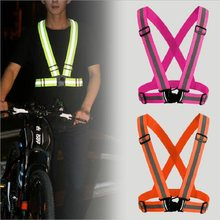 Unisex Bike Safety Vest Reflective Visibility Cycling Accessories Night  Riding Running Jogging Protective Stripe for Adult Child 0204bc208