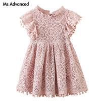 Girls Clothing Cotton Flower Dresses For Girl Lace Princess Party Dresses Children Clothing Brand Costume For