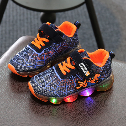 Fashion Toddler Girls Antiskid Shoes Cartoon Children boy sports Shoes With Light Kids Led Shoes Luminous Sneakers Multan