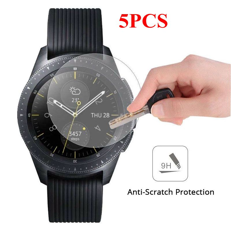 5PCS Tempered Glass For Samsung Galaxy Watch 46mm 42mm Screen Protector For Samsung Galaxy Watch 9H Anti-scratch Protective Film