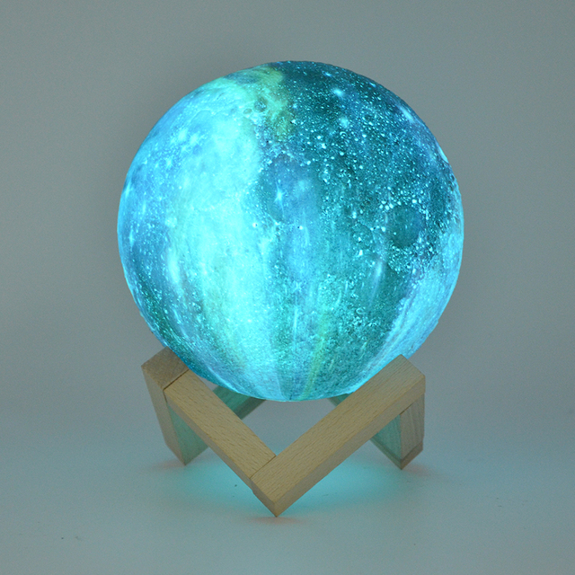 Dropship 15CM Moon Lamp 3D Print Star Galaxy Light Colorful Change Touch USB Charging Led Home Decoration Baby Night Lights Gift 1