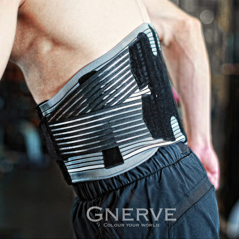 GNERVE Profession Waist Support Adjustable Trainer Cycling Running Gym Fitness Waistband Power Protect Sport Safety Lumbar Belt adjustable pressurized waist support belt coyoco brand gym sports weightlifting fitness running training waist brace protect