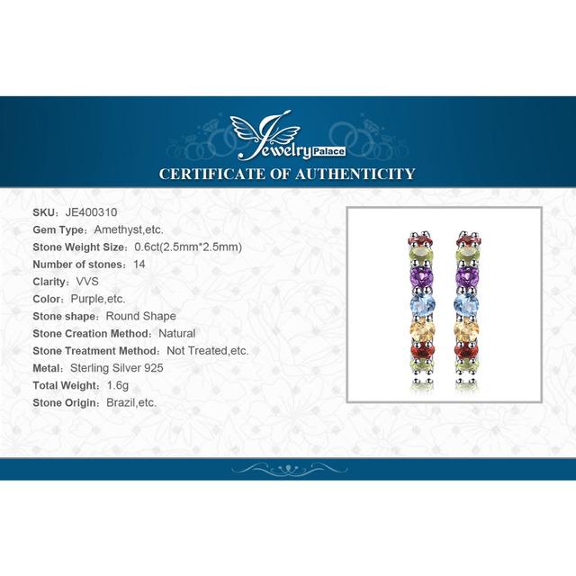 Multicolor Natural Garnet Stud Earrings