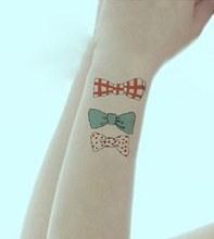 Tatuagem temporária à prova dwaterproof água adesivo arco emissor tatuagem treliça para crianças menina mulheres tatto adesivos flash tatoo tatuagens falsas