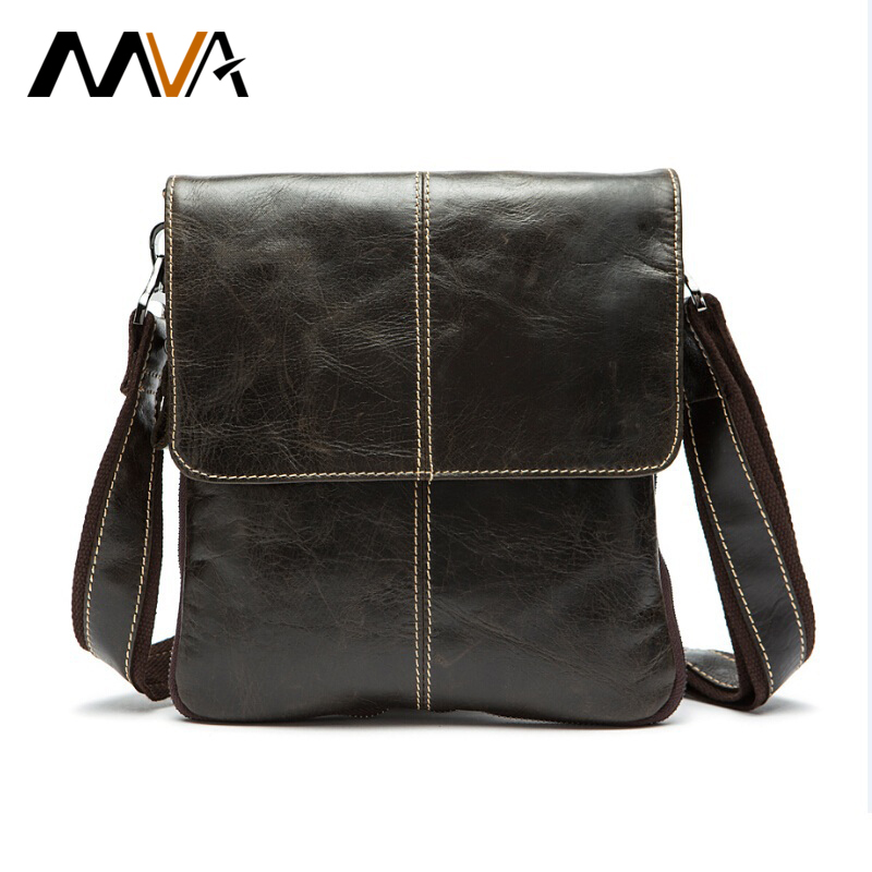 Mva Genuine Leather Men Bag Fashion Leather Crossbody Bag