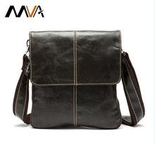 MVA Genuine Leather Men Bag Fashion Leather Crossbody Bag Men Messenger Bags Casual Shoulder Designer Handbags Man Bags 2017 NEW