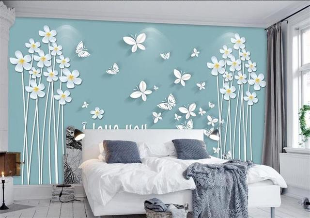 3d quarto papel de parede personalizado mural da foto da for Paredes artisticas