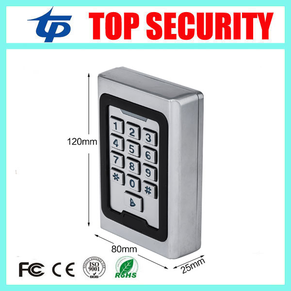 5pcs/lot good quality 2000 users surface waterproof metal access controller standalone door access control panel reader metal rfid em card reader ip68 waterproof metal standalone door lock access control system with keypad 2000 card users capacity