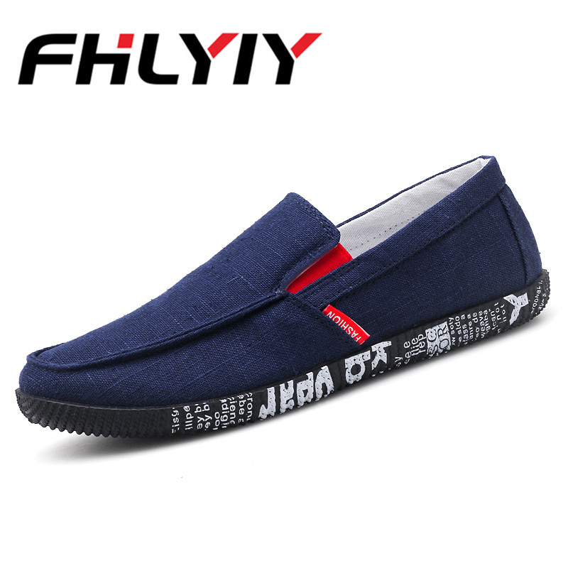 2018 Summer Men Canvas Slip On Flats Shoes Breathable Casual Boat Shoes Male Shoes Loafers Comfortable Ultralight Lazy Shoes clax men summer shoes slip on 2017 breathable male flats loafers fisherman shoe casual white boat footwear leather sandals