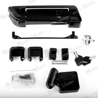 Gloss Black Tour Pak Hinges&Latch Kit&Tour Pack Lid Tether For Harley Touring Road King Road Glide 14 Later