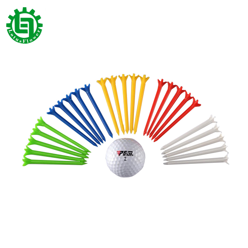 50Pcs Zero Friction Golf Ball Holder Seat 5-prong Performance Golf Tee Plastic Ipomoea 83mm Golf Tees Clip Markers Pin Step Down