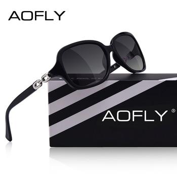 0c395d9ba8 AOFLY marca De moda De diseño De Gafas De Sol polarizadas mujer Gafas De  Sol mujer gradiente tonos Gafas De Sol Femeninas UV400