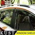 KUST 4 UNIDS Exterior Ventana Visera del Protector Para Toyota RAV4 2013 Lluvia Ventana Cubierta de Escudo protector Para RAV4 2014 2015 accesorios