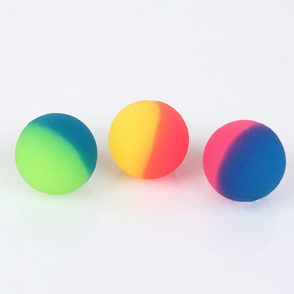 3Pcs/set Colorful Toy Ball Mixed Bouncy Ball Child Elastic Rubber Children Kids Outdoor Bath Bouncy Toys Cool