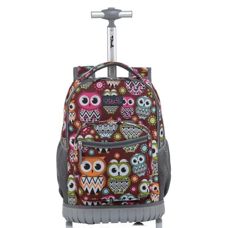 Rolling Backpack Children Trolley School Bags Laptop 18 Inch Multifunction Wheeled Bookbag Travel Bag for Kids and Students 6 wheels high quality girls trolley backpack schoolbag wheeled bags for children trolley school bag boys detachable backpack