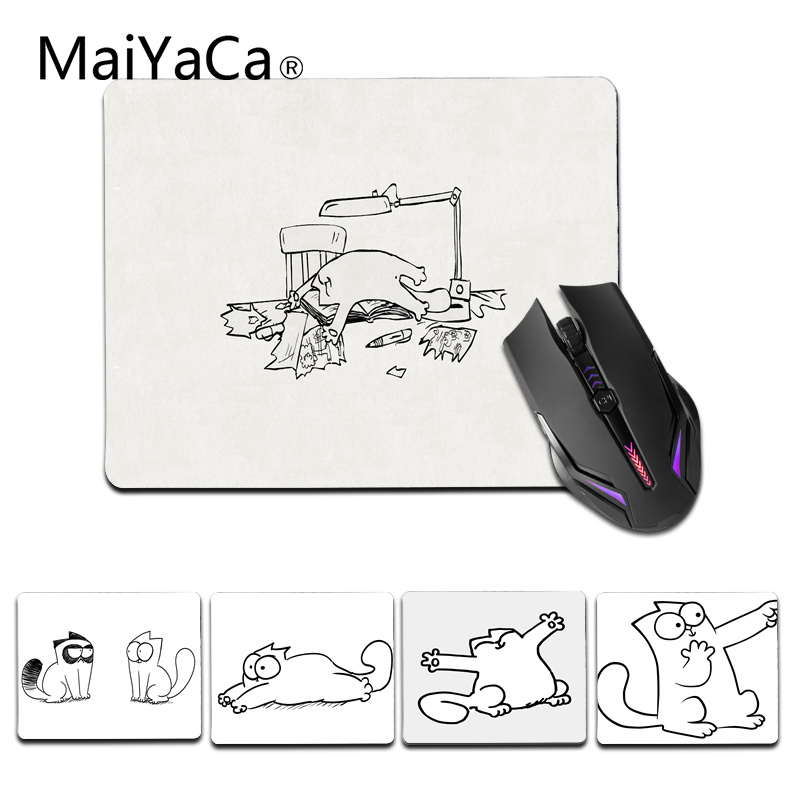 MaiYaCa In Stocked Simons Cat Office Mice Rubber Mouse Pad Size for 18x22cm 25x29cm Gaming Mousepad
