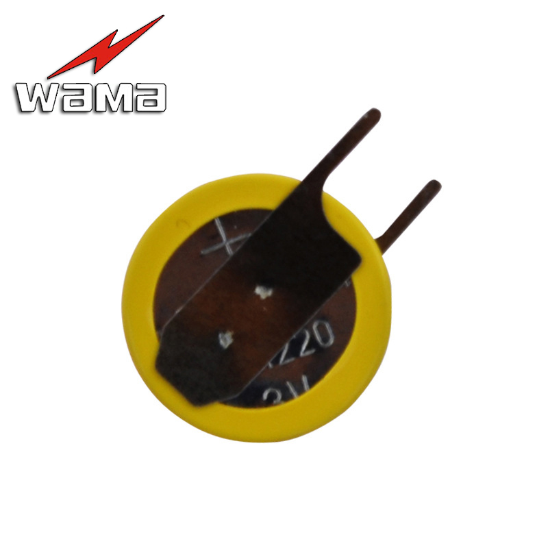 2pcs/lot 2-Pin CR1220 3V Battery With Welding Feet Conventional Horizontal Customized BIOS 1220 Coin Batteries