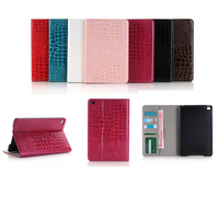 New Arrival Slim Crocodile Leather Case Smart Cover For IPad Pro Stand Cover With Card Slot