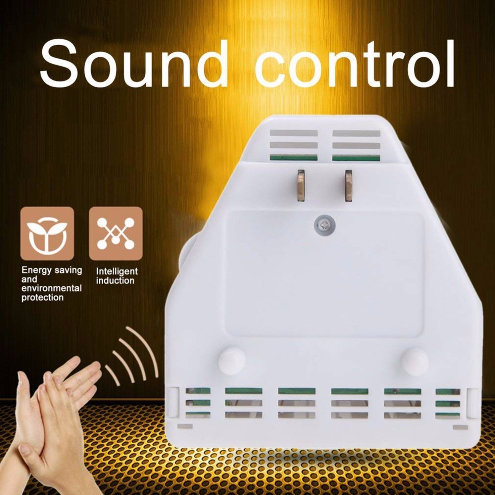 Sound Activated On/off Switch By Hand Clap 110/220V Electronic Control Gadget White US Plug