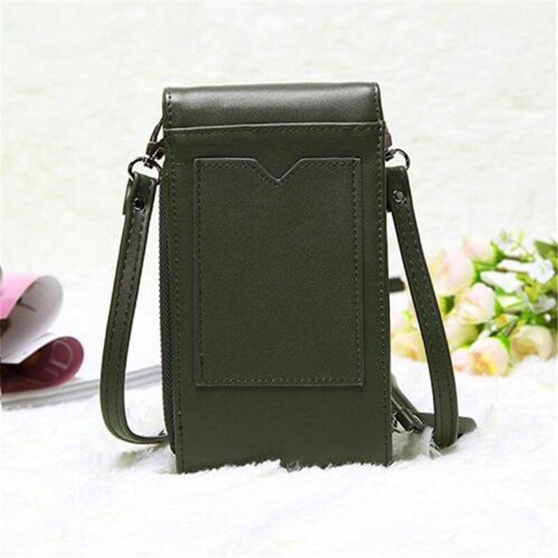2019 Korean Mini Long Mobile Phone Bag Student Fashion Messenger Bag Casual Ladies Flap Shoulder Bag Women Handbags Organizer in Top Handle Bags from Luggage Bags