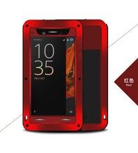 جراب مضاد للماء من Love Mei لهاتف Sony Xperia XZ غطاء معدني من الألومنيوم لهاتف Sony Xperia XZ F8332 F8331