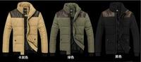 зима тонкий мужской свободного покроя ватные - хлопка-ватник мужская одежда подставка воротник хлопка-ватник верхняя одежда плюс