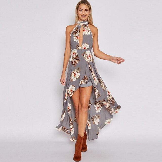Asymmetrical Backless Dress