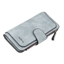 Nubuck Women Dompet Poland PU Purse Wanita Panjang dengan Pocket Coin Fesyen Tri-folds Multi-card wallet